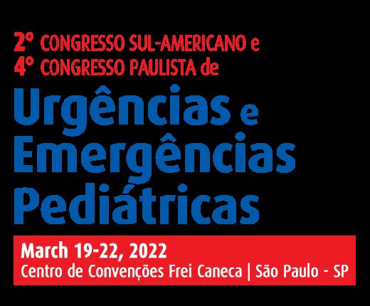 2º Congresso Sul-Americano (2nd South American congress) and 4º Congresso Paulista de Urgências e Emergências Pediátricas (4th Paulista Congress on Pediatric Urgency and Emergency)